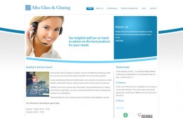 Alba Glass & Glazing Website Design Image 1