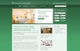 Albany Street Apartments Website Design Image 1