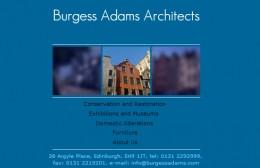 Burgess Adams Architects Website Design Image 1