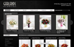 Garlands Florist Website Design Image 1