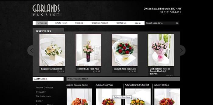 Garlands Florist Website Design Image 1