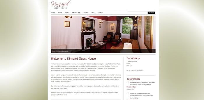 Kinnaird Guest House Website Design Image 1