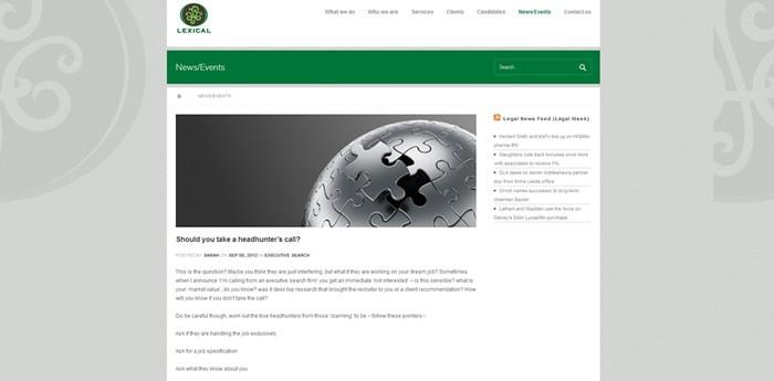 Lexical Website Design Image 1