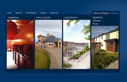 Oliver and Robb Architects Website Design Image 1