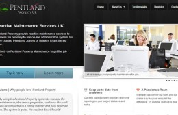 Pentland Property UK Website Design Image 1