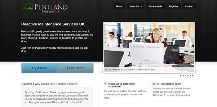 Pentland Property UK Website Design Image 1