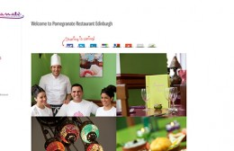 Pomegranates Restaurant Website Design Image 1