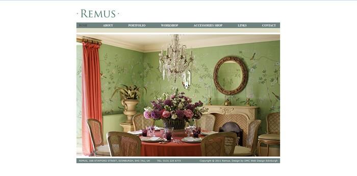Remus Interiors Website Design Image 1