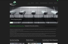 U N Security Services Website Design Image 1