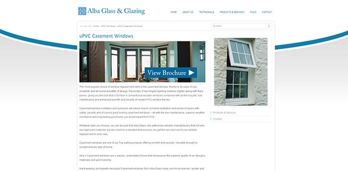 Alba Glass & Glazing Website Design Image 2