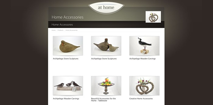 At Home Gifts Website Design Image 2