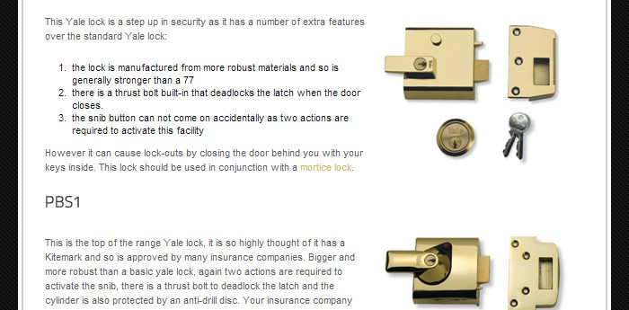 Capital Locksmiths Website Design Image 2