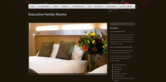 Carlton Hotel Prestwick Website Design Image 5
