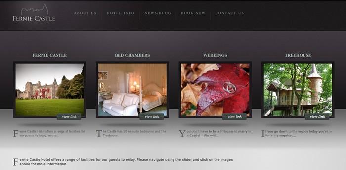 Fernie Castle Hotel Website Design Image 2