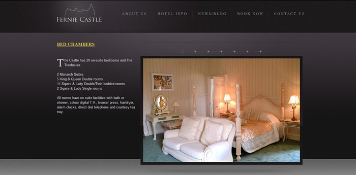 Fernie Castle Hotel Website Design Image 3