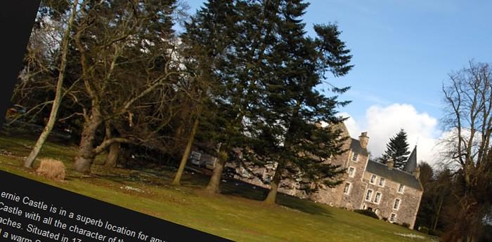 Fernie Castle Hotel Website Design Image 1