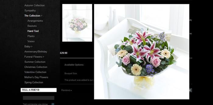 Garlands Florist Website Design Image 2