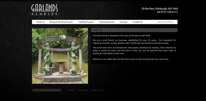 Garlands Florist Website Design Image 3