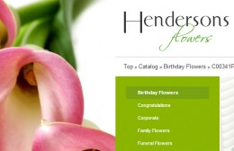 Hendersons Flowers Website Design Image 3