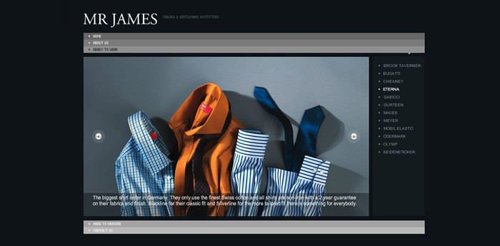 Mr James Website Design Image 1