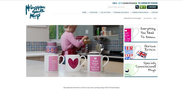 McLaggan Smith Mugs Website Design Image 2