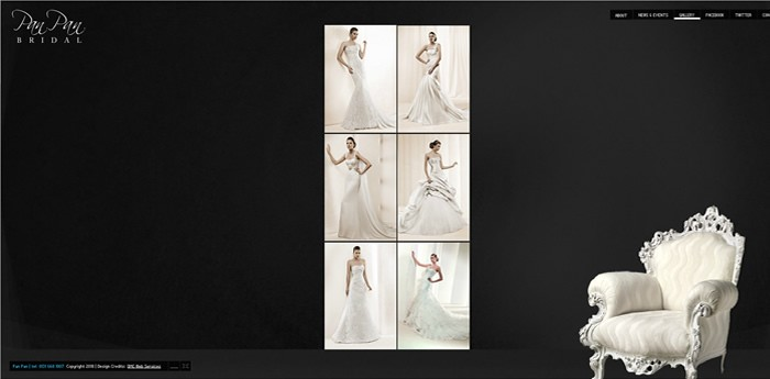 Pan Pan Bridal Website Design Image 2
