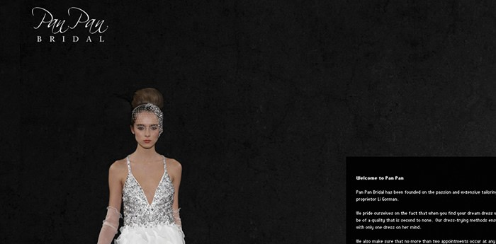 Pan Pan Bridal Website Design Image 3