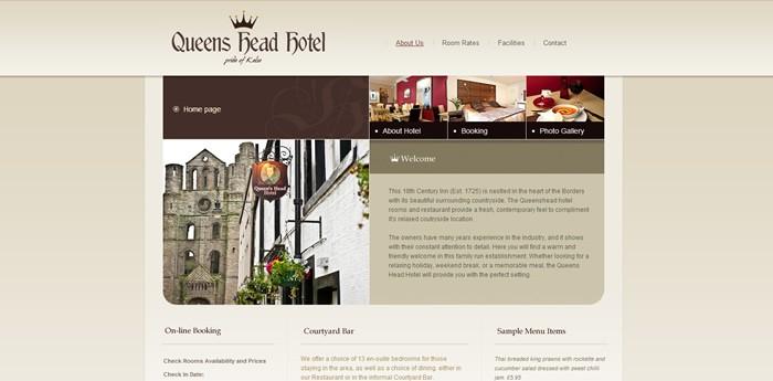 Queens Head Hotel Kelso Website Design Image 2
