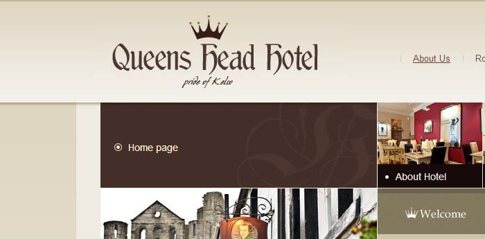 Queens Head Hotel Kelso Website Design Image 3