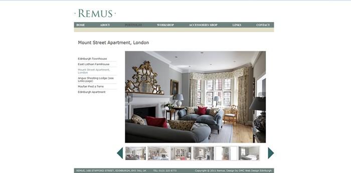 Remus Interiors Website Design Image 2