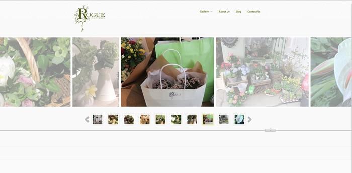 Rogue Flowers Website Design Image 2