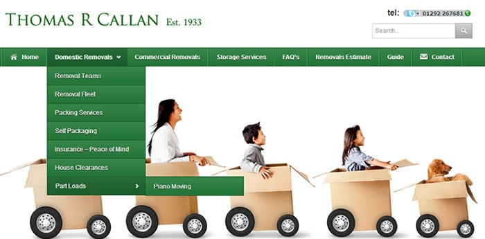 Callan Removals Website Design Image 3