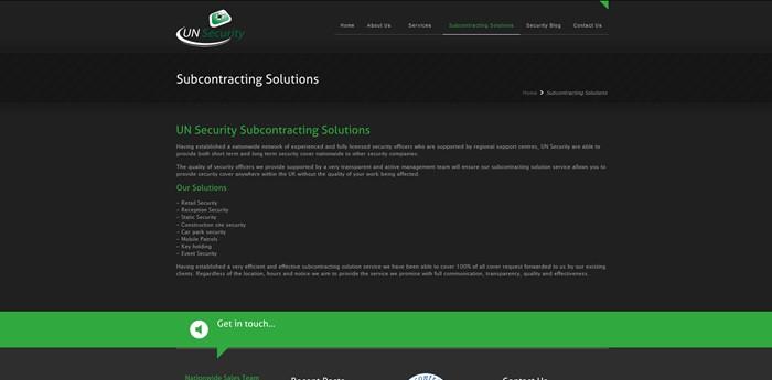 U N Security Services Website Design Image 3