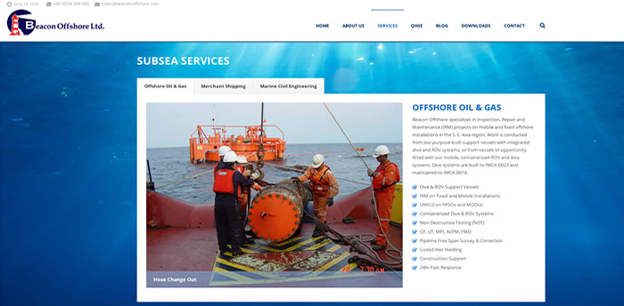 Beacon Offshore Ltd at sea